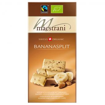 Maestrani Swiss Organic Bananasplit 80g