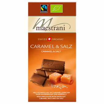 Maestrani Swiss Organic Caramel & Salz 80g