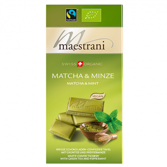 Maestrani Swiss Organic Matcha & Minze 80g