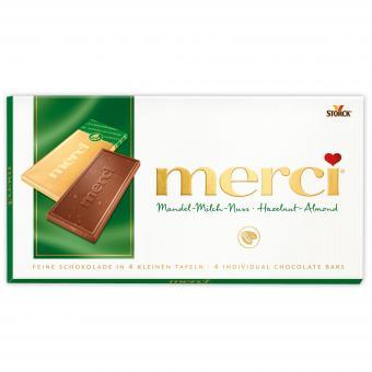 merci Tafelschokolade Mandel-Milch-Nuss 100g