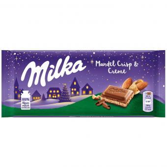 Milka Mandel Crisp & Creme 90g