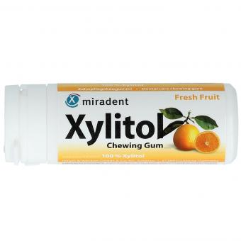 miradent Xylitol Chewing Gum Fresh Fruit