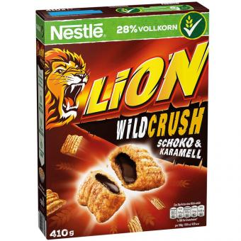 Lion Wild Crush Schoko & Karamell 410g