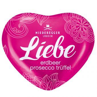 """Niederegger Herzen Glücklichsein """"Liebe"""" Erdbeer-Prosecco-Trüffel 80x14g"""