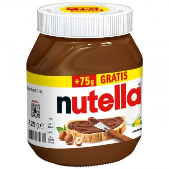 nutella 750g + 75g gratis