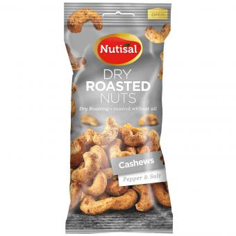 Nutisal Dry Roasted Nuts Cashews Pepper & Salt 60g