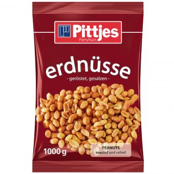 Pittjes Erdnüsse geröstet, gesalzen 1kg