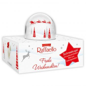 Raffaello Schneekugel + 6 Pralinen