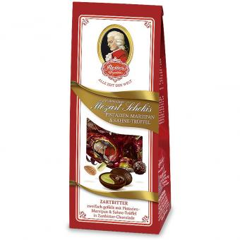 Reber Mozart Schokis Pistazien-Marzipan & Sahne-Trüffel 100g