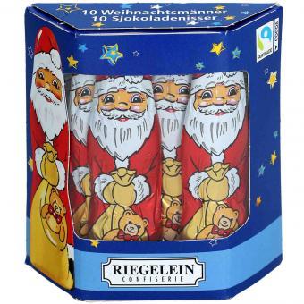 Riegelein Massiv-Weihnachtsmann groß 10er