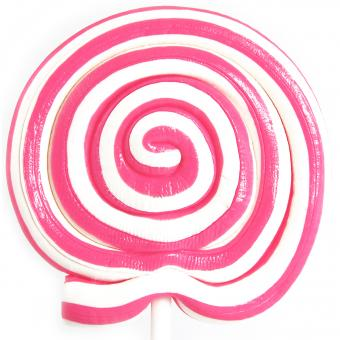 Lolly Master Spiral-Lolly rosa-weiß