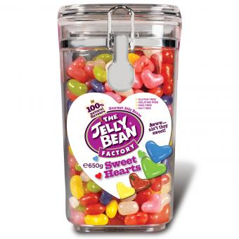 The Jelly Bean Factory Gourmet Sweet Hearts Jar 650g