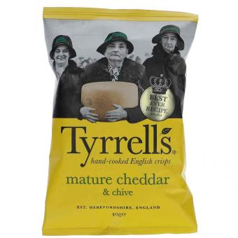 Tyrrells mature cheddar & chive 40g