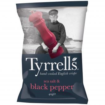 Tyrrells sea salt & black pepper 40g