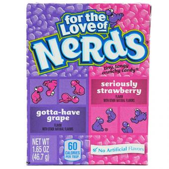Wonka Nerds Grape & Strawberry 46,7g