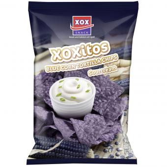 XOXitos Tortillachips Bluecorn & Sourcream