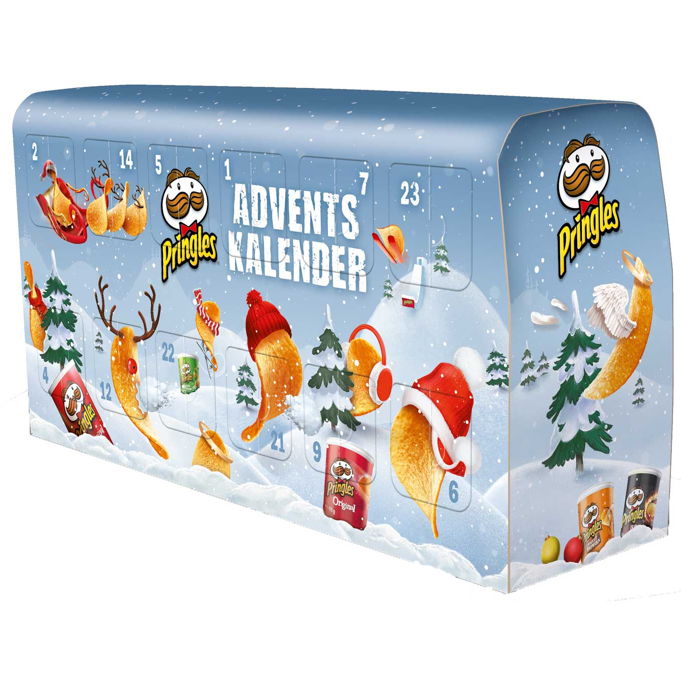 pringles bus adventskalender online kaufen im world of sweets shop. Black Bedroom Furniture Sets. Home Design Ideas