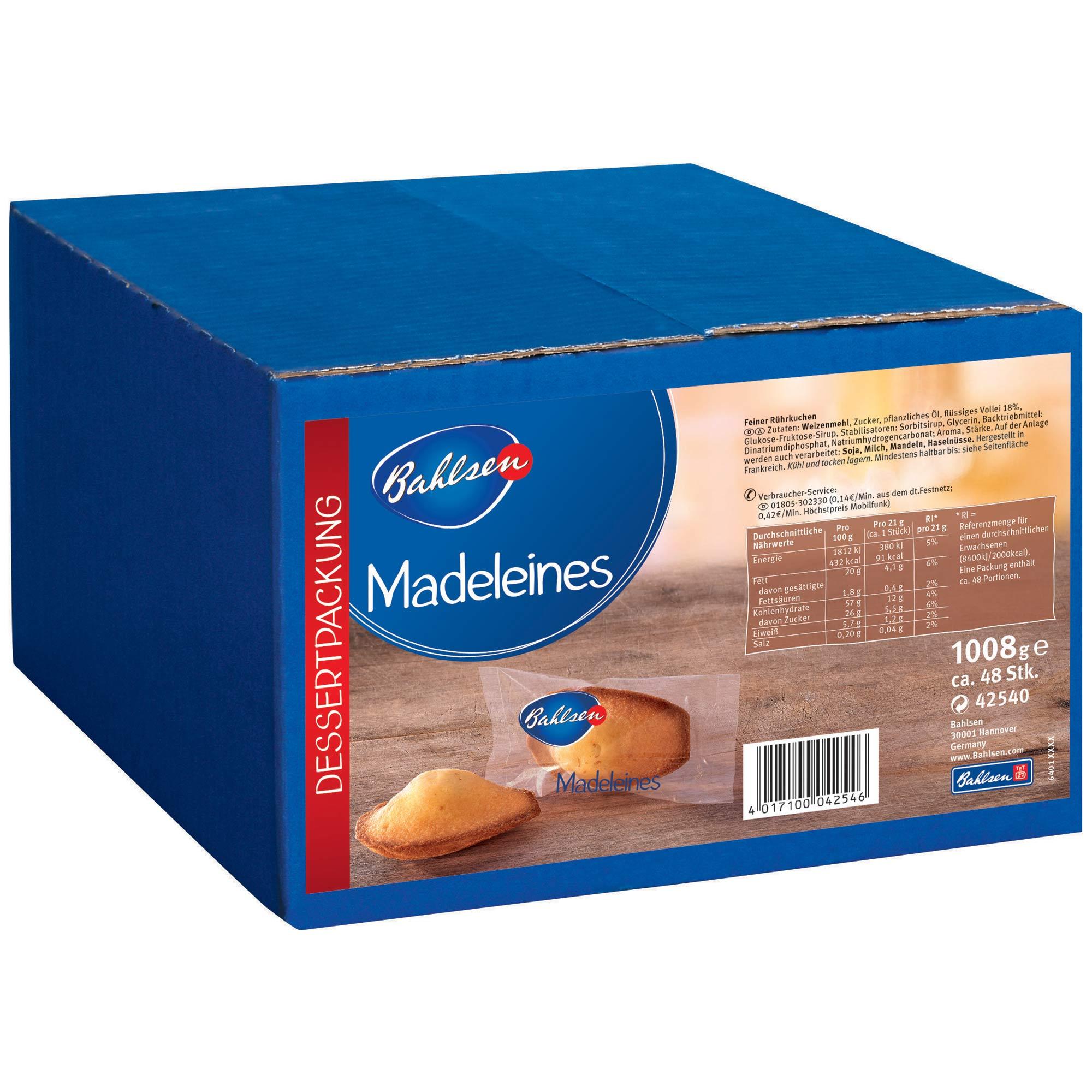 bahlsen madeleines 48er catering karton online kaufen im world of sweets shop. Black Bedroom Furniture Sets. Home Design Ideas