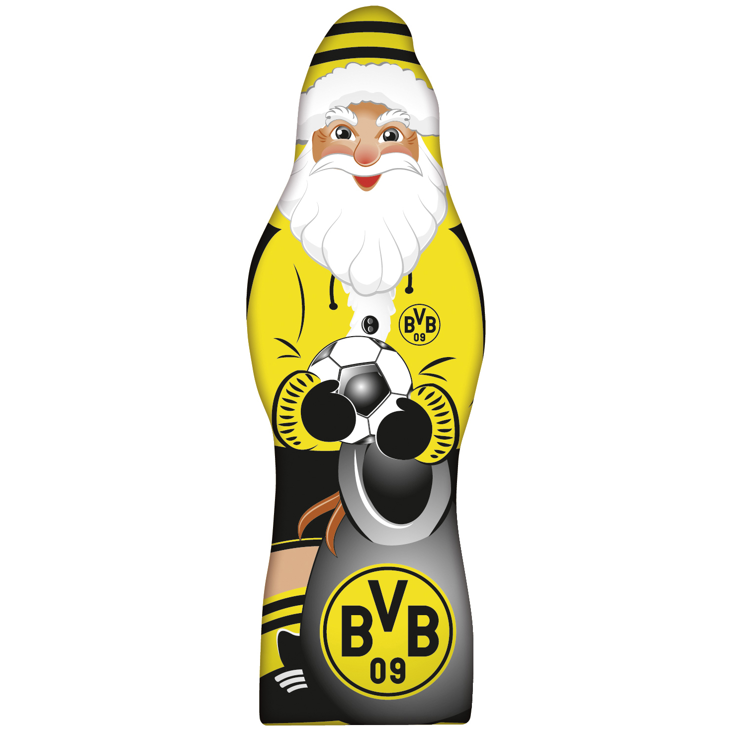 borussia dortmund weihnachtsmann 150g online kaufen im world of sweets shop. Black Bedroom Furniture Sets. Home Design Ideas