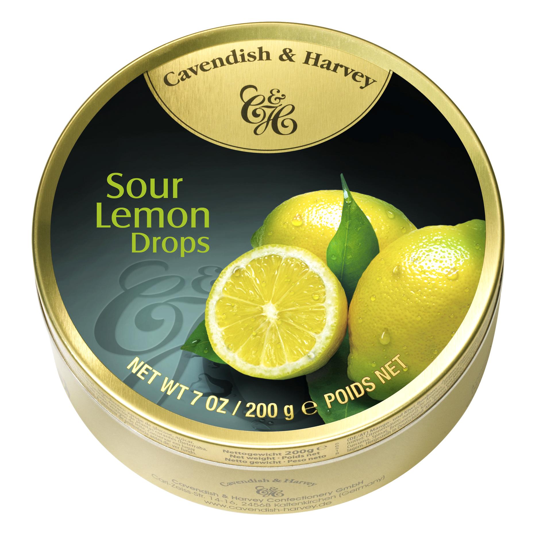 cavendish harvey sour lemon drops 200g online kaufen. Black Bedroom Furniture Sets. Home Design Ideas
