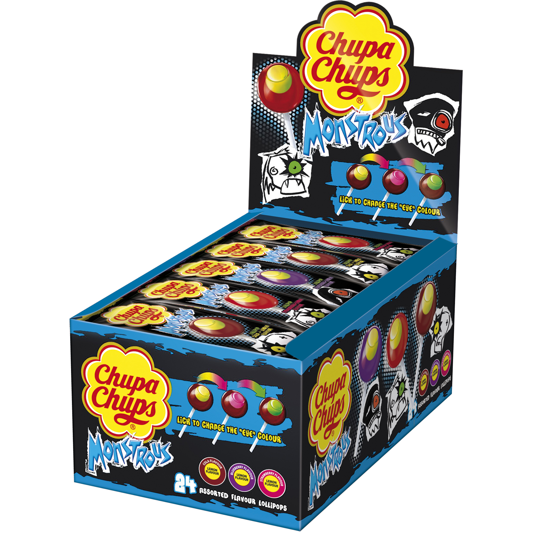 Chupa chups monstrous 24er thekendisplay online kaufen im world of sweets shop - Housse de couette chupa chups ...