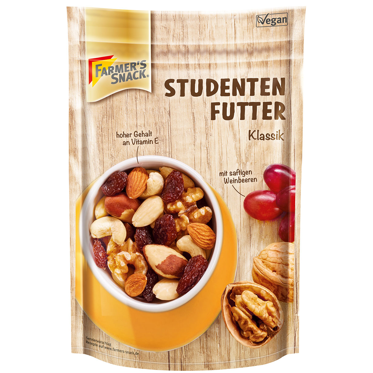 Farmer\'s Snack Studentenfutter Klassik 200g | Online kaufen im World ...