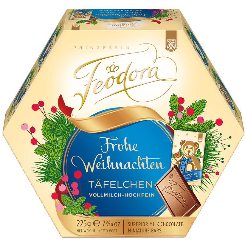Feodora Frohe Weihnachten Täfelchen Vollmilch-Hochfein 225g   Online ...