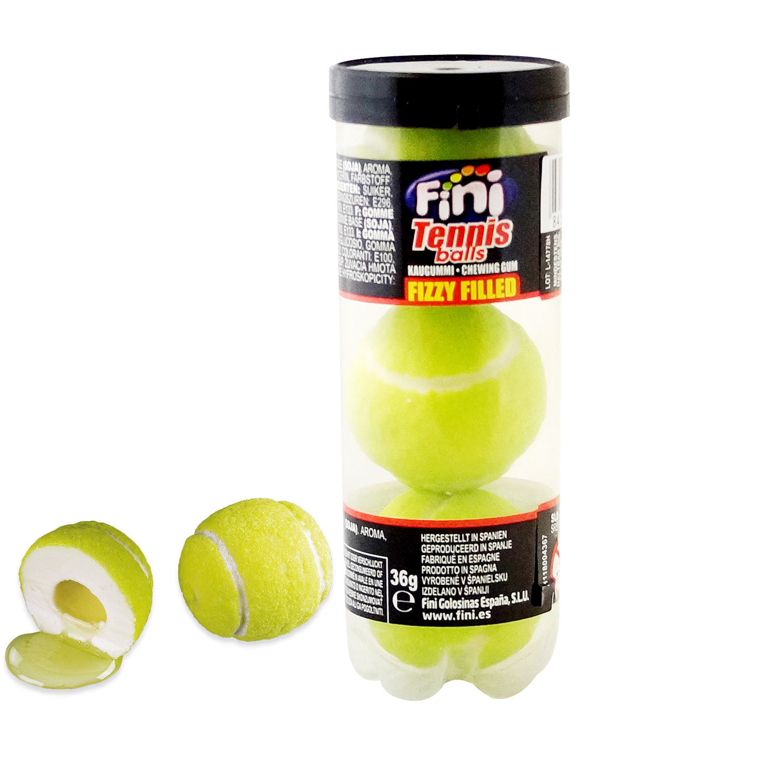 fini tennis balls 3er online kaufen im world of sweets shop. Black Bedroom Furniture Sets. Home Design Ideas