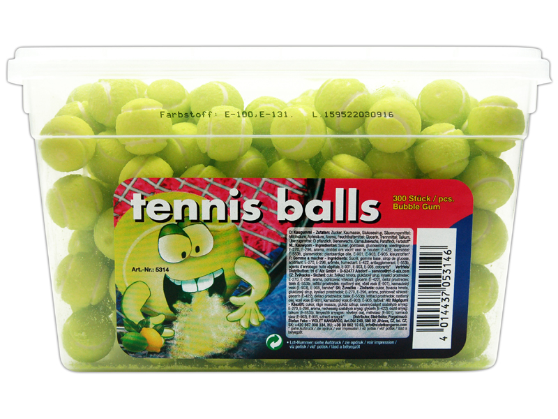fizzy fruits tennis balls 300er dose online kaufen im world of sweets shop. Black Bedroom Furniture Sets. Home Design Ideas
