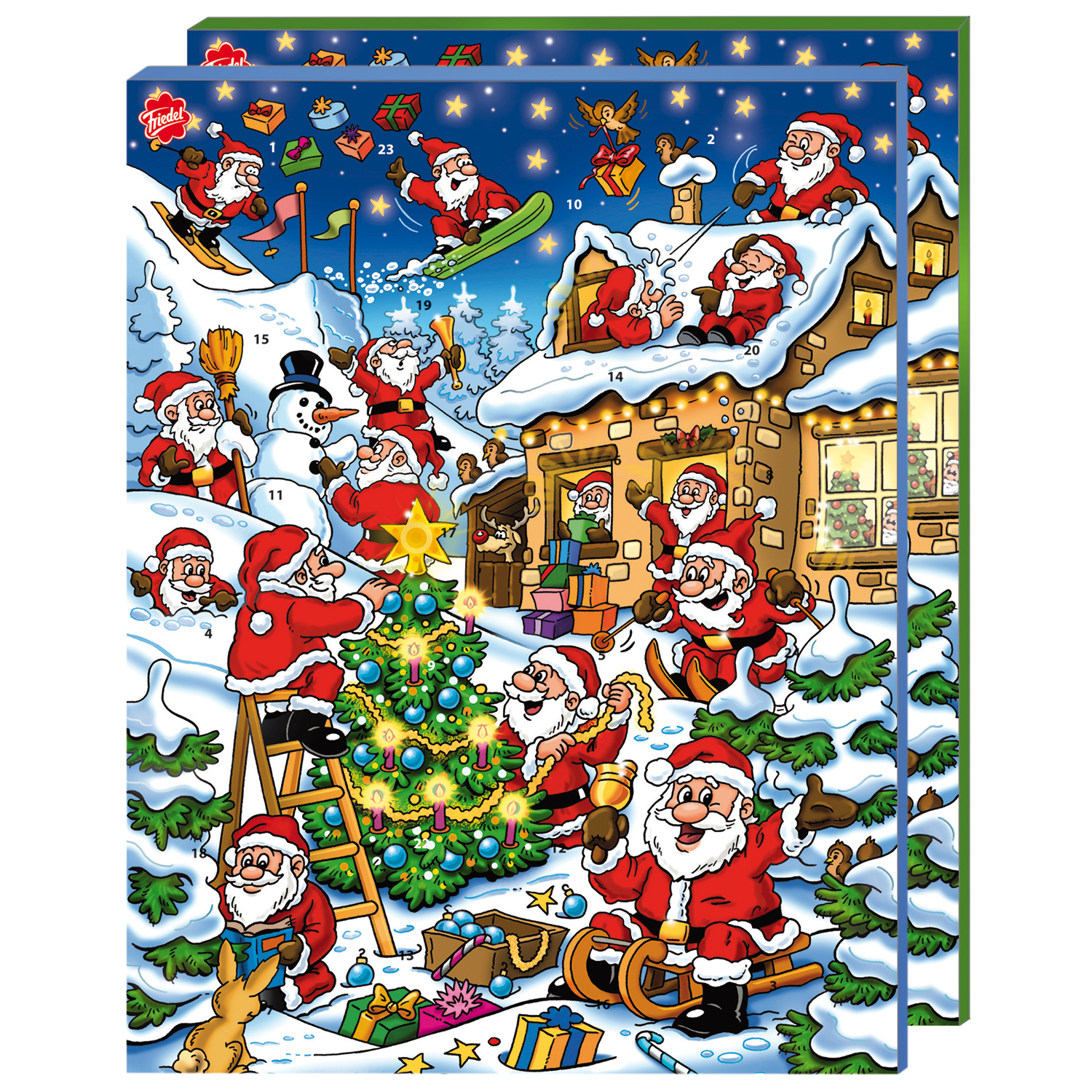 friedel adventskalender mit milchcremef llung online kaufen im world of sweets shop. Black Bedroom Furniture Sets. Home Design Ideas