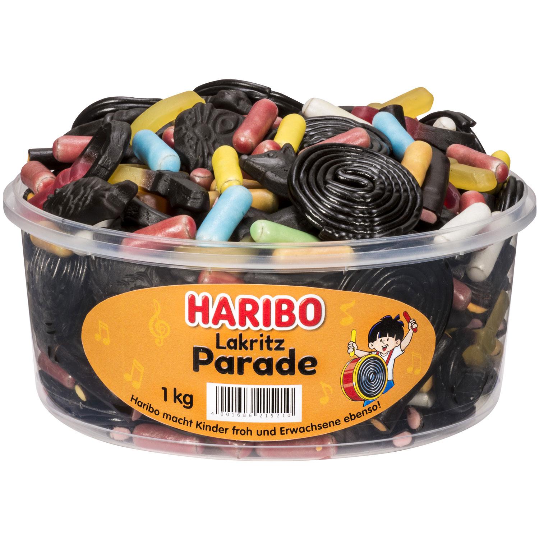 Haribo Lakritz Parade Dose 1kg Online Kaufen Im World Of Sweets Shop
