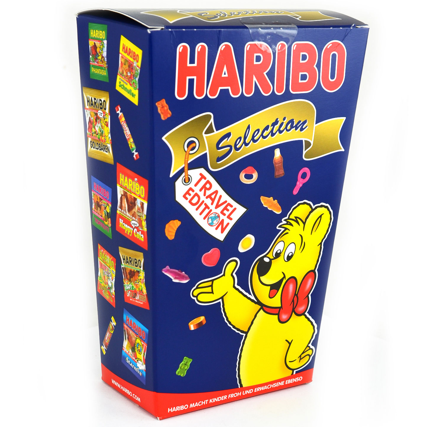 haribo selection travel edition 500g online kaufen im world of sweets shop. Black Bedroom Furniture Sets. Home Design Ideas