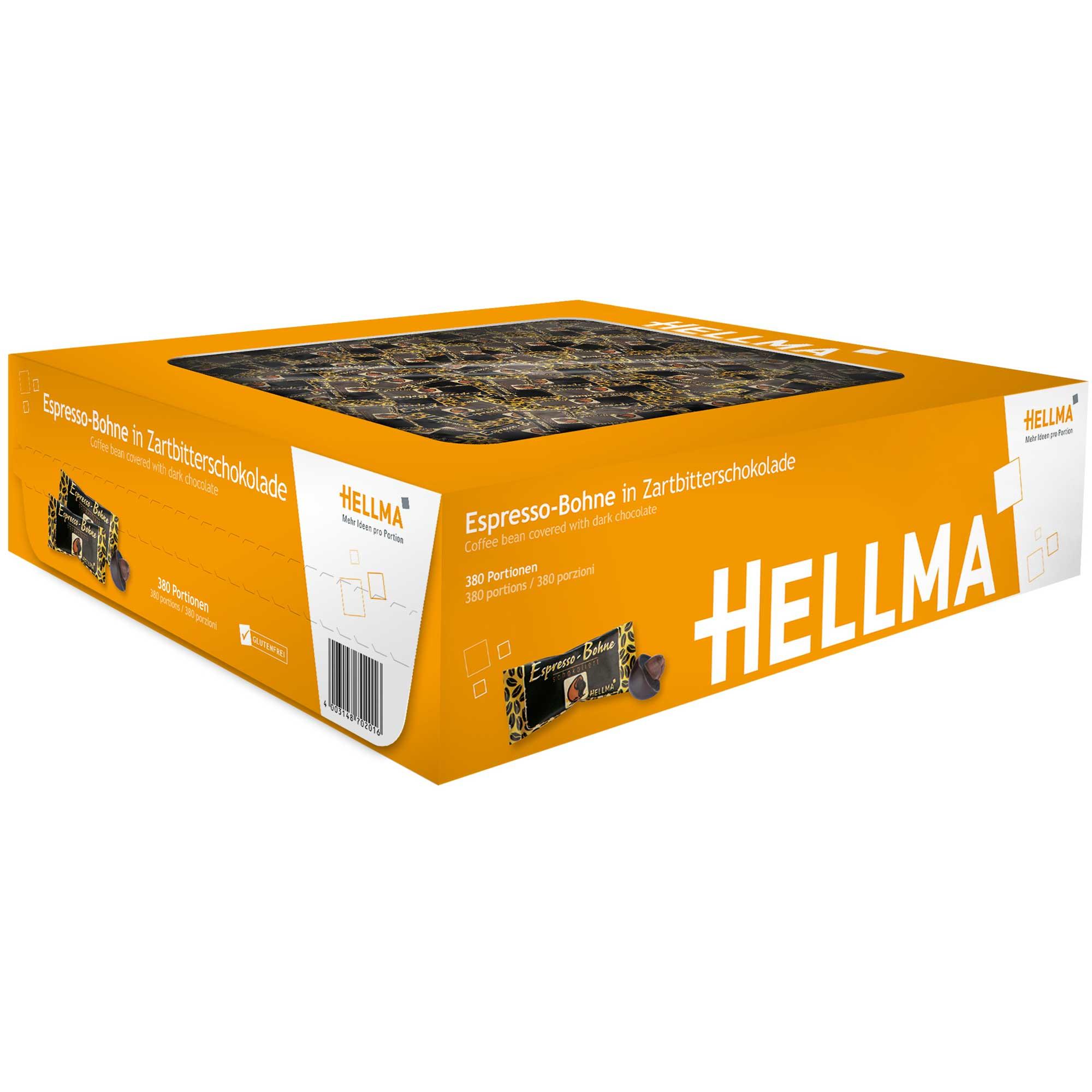 hellma espresso bohne in zartbitterschokolade 380er online kaufen im world of sweets shop. Black Bedroom Furniture Sets. Home Design Ideas