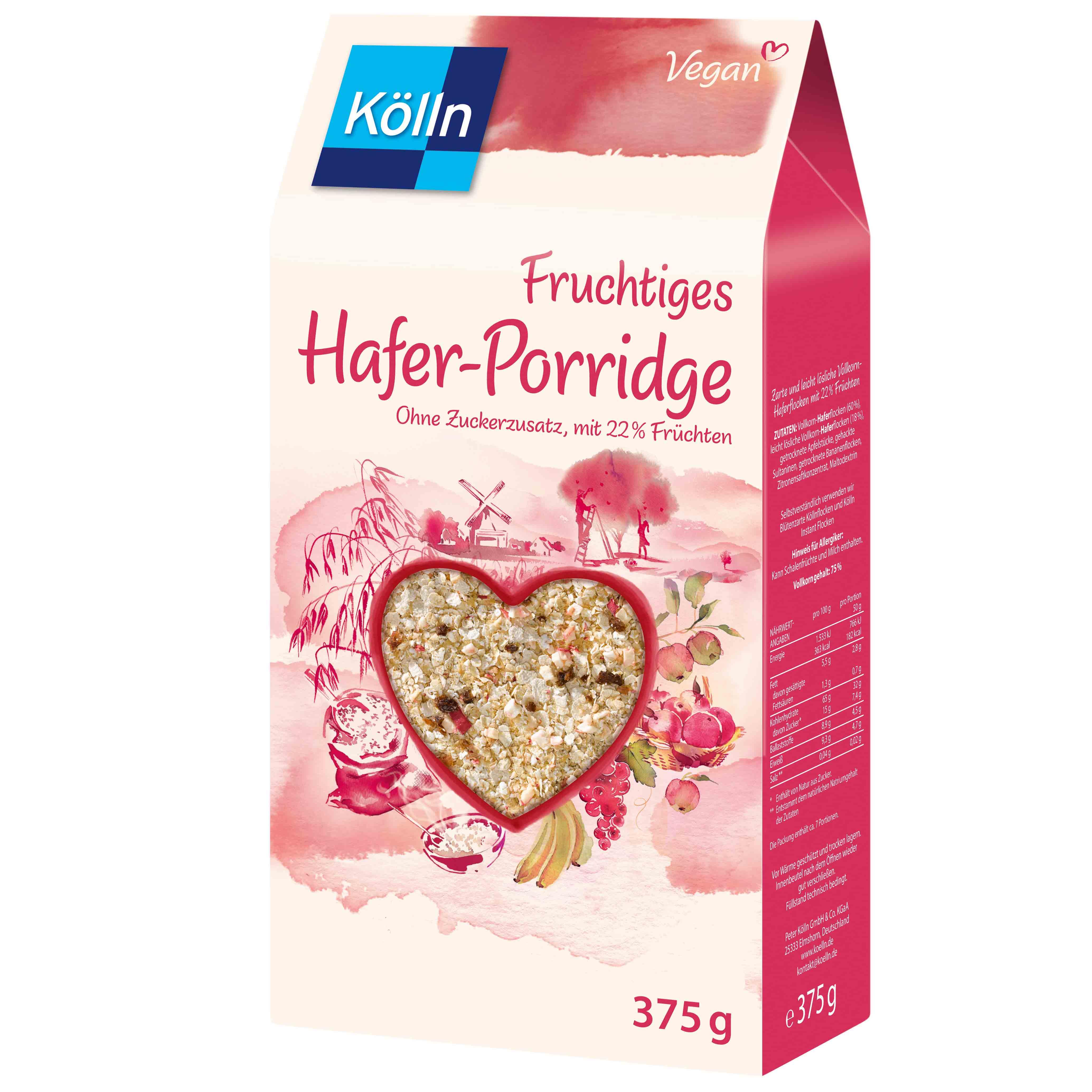 Atemberaubend Kölln Fruchtiges Hafer-Porridge 375g   Online kaufen im World of &BV_55