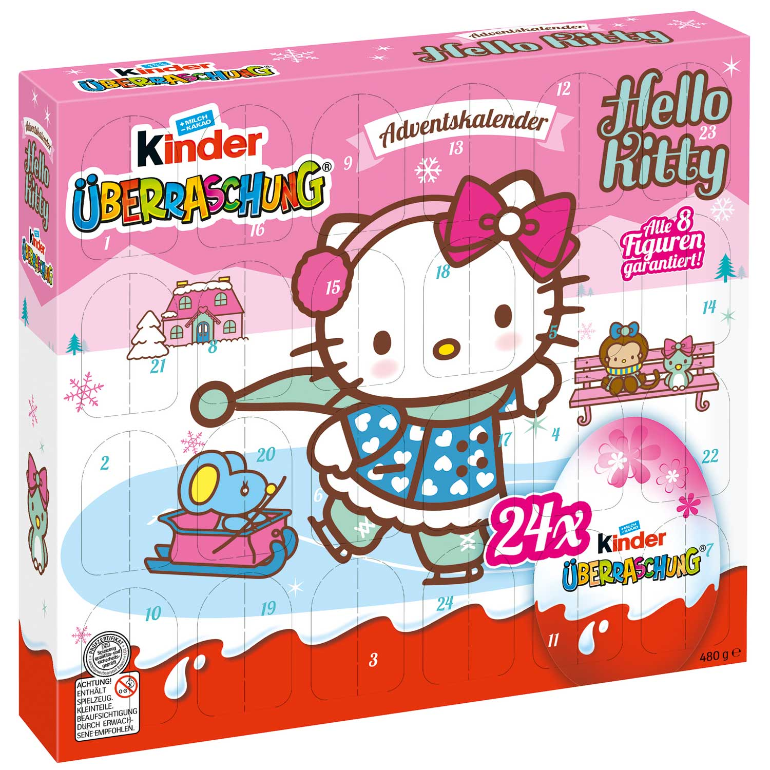 kinder berraschung adventskalender hello kitty online kaufen im world of sweets shop. Black Bedroom Furniture Sets. Home Design Ideas