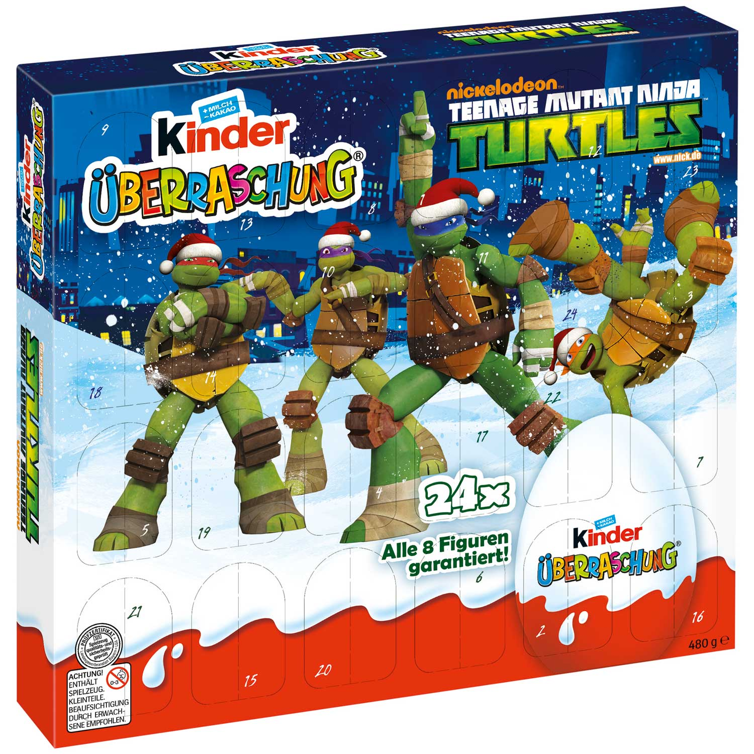 kinder berraschung adventskalender turtles online kaufen im world of sweets shop. Black Bedroom Furniture Sets. Home Design Ideas