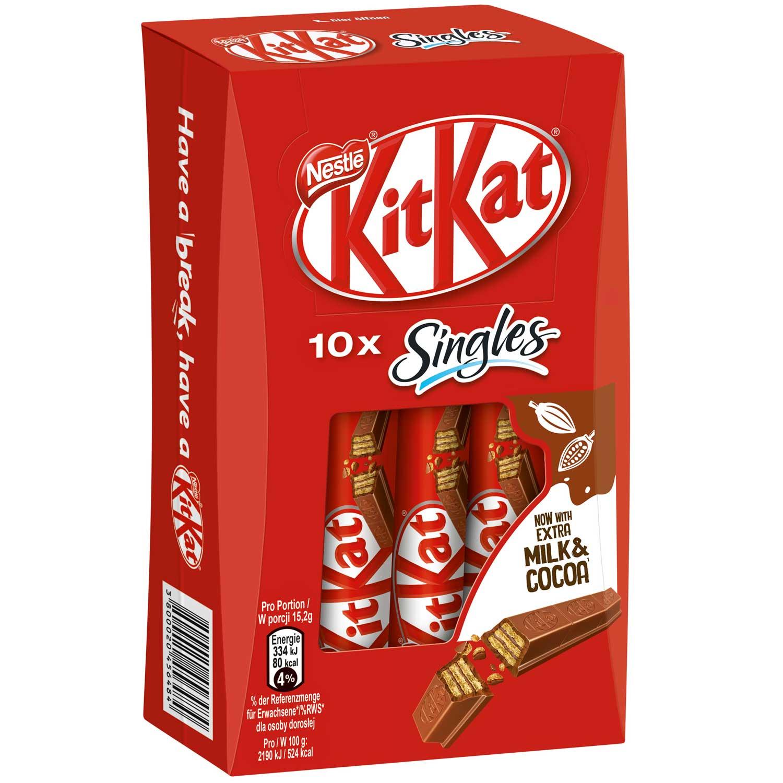 KitKat Singles 10er | Online kaufen im World of Sweets Shop