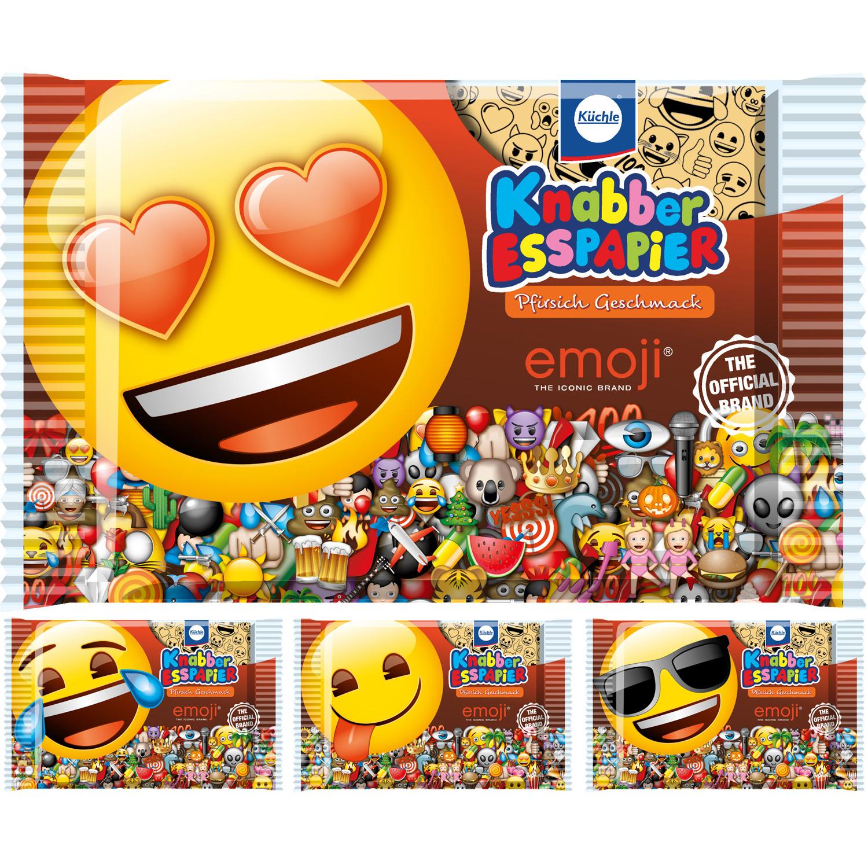 Küchle Knabber Esspapier Emoji Pfirsich 20g
