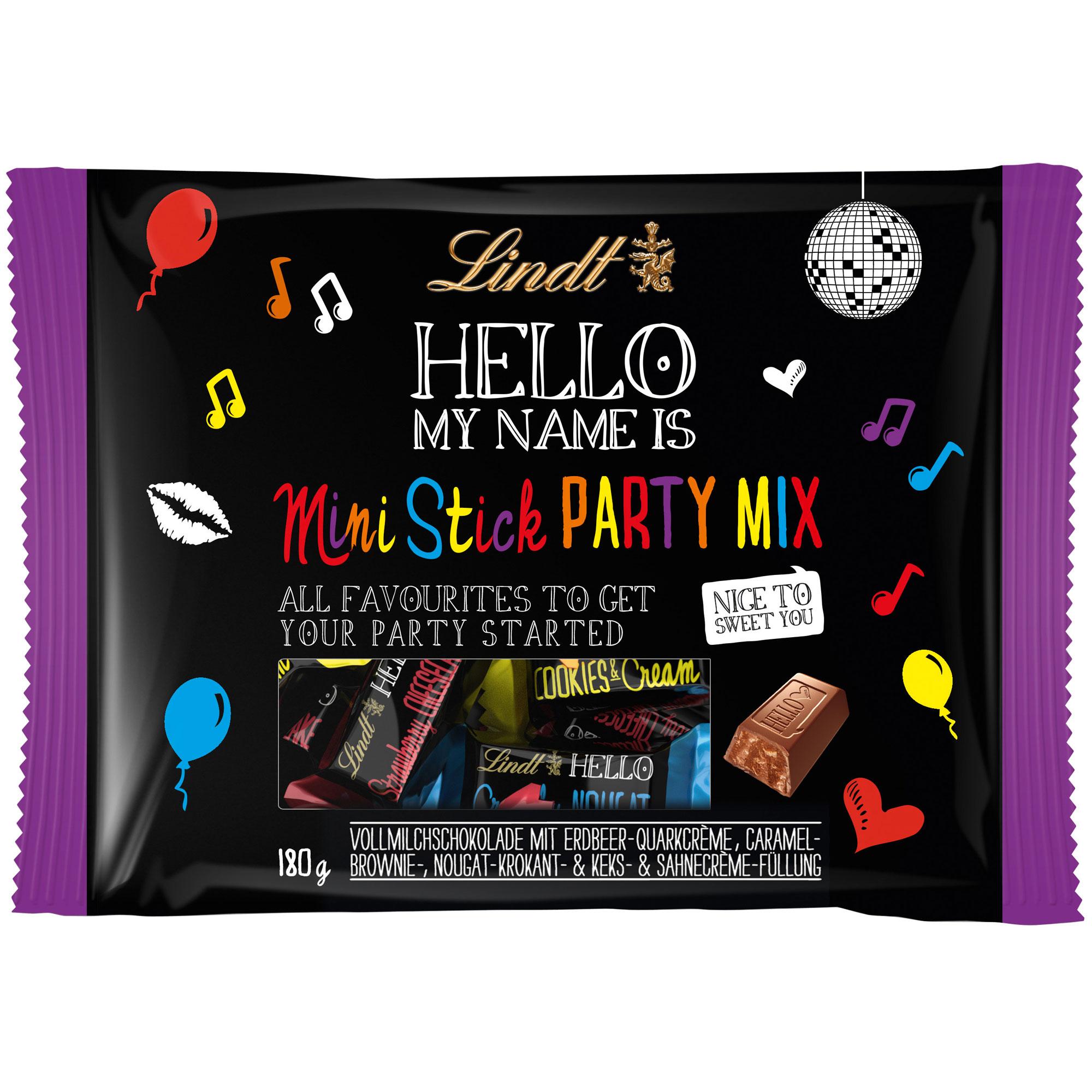 lindt hello mini stick party mix online kaufen im world of sweets shop. Black Bedroom Furniture Sets. Home Design Ideas