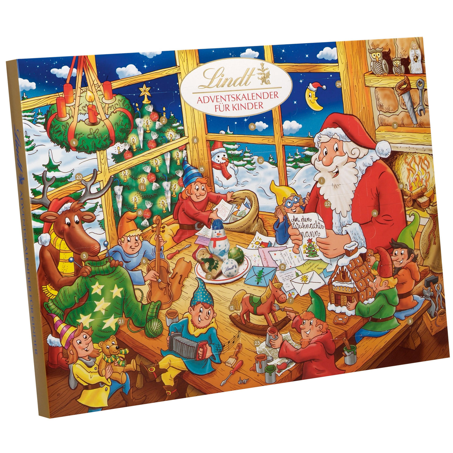 lindt kinder adventskalender online kaufen im world of sweets shop. Black Bedroom Furniture Sets. Home Design Ideas