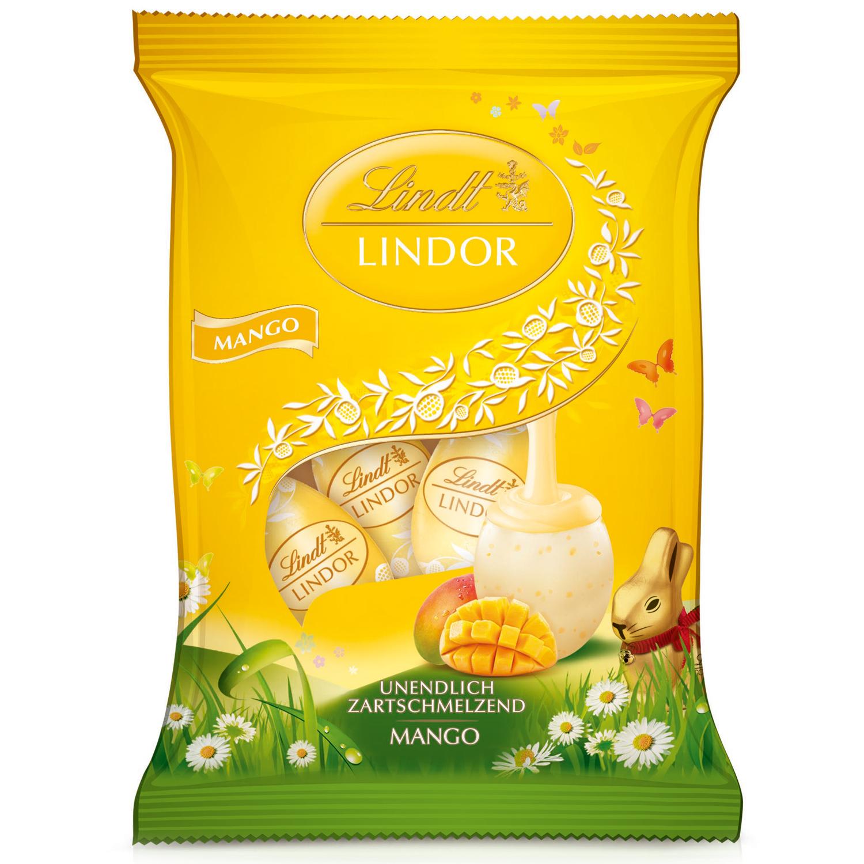 lindt lindor mango eier 90g online kaufen im world of sweets shop. Black Bedroom Furniture Sets. Home Design Ideas