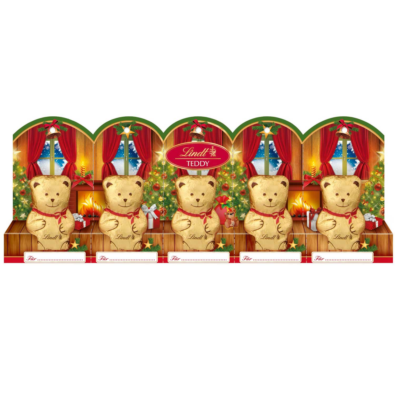 lindt mini teddy mit perforation 5x10g online kaufen im world of sweets shop. Black Bedroom Furniture Sets. Home Design Ideas