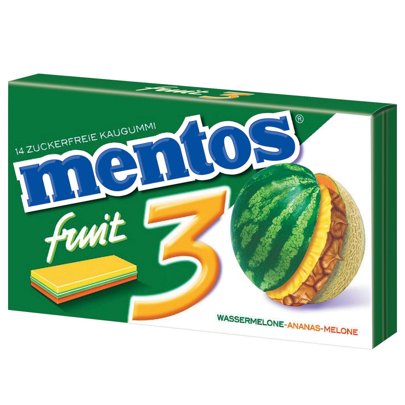 mentos gum 3 wassermelone ananas melone online kaufen im world of sweets shop. Black Bedroom Furniture Sets. Home Design Ideas