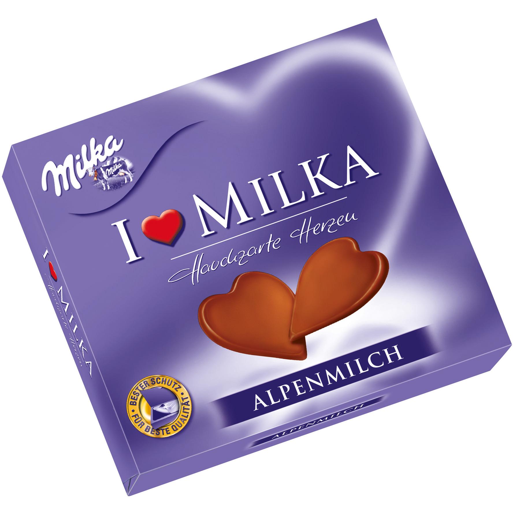 Milka Herz Schokolade