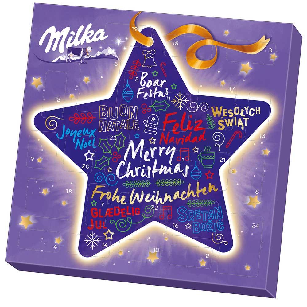 Milka Weihnachtskalender.Milka Mix Adventskalender