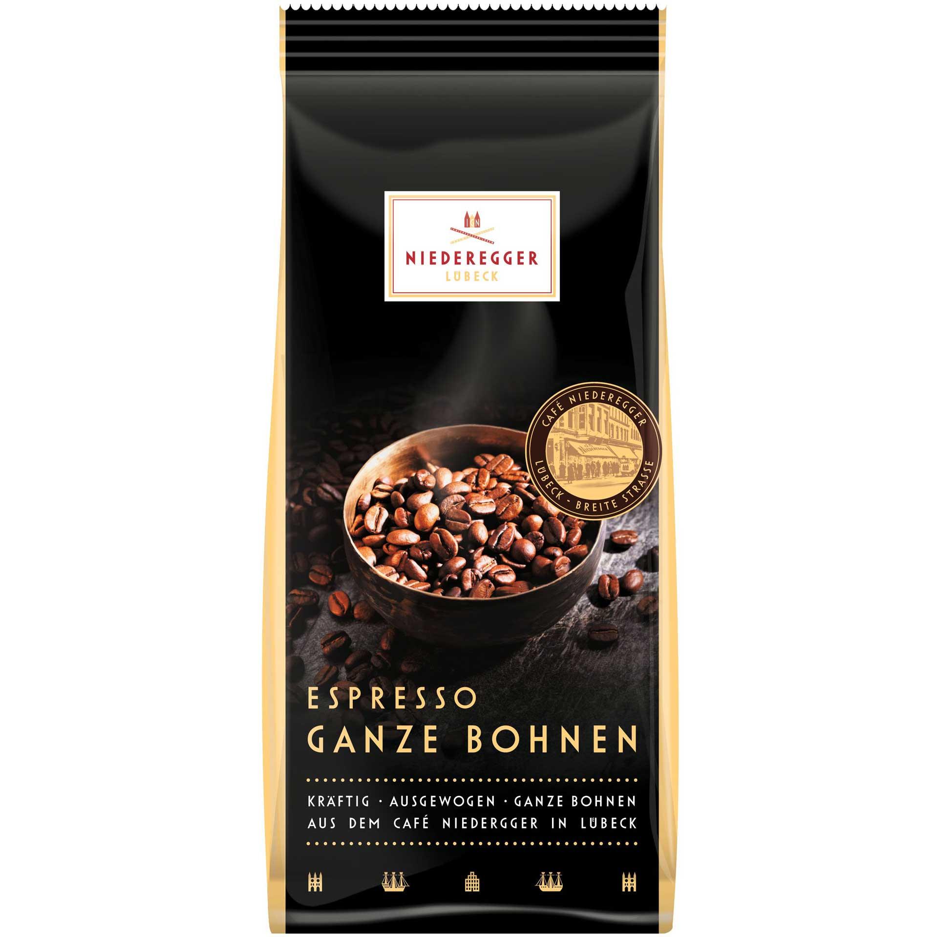 niederegger espresso ganze bohnen online kaufen im world of sweets shop. Black Bedroom Furniture Sets. Home Design Ideas