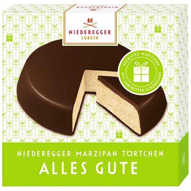 niederegger marzipan t rtchen alles gute 75g online kaufen im world of sweets shop. Black Bedroom Furniture Sets. Home Design Ideas
