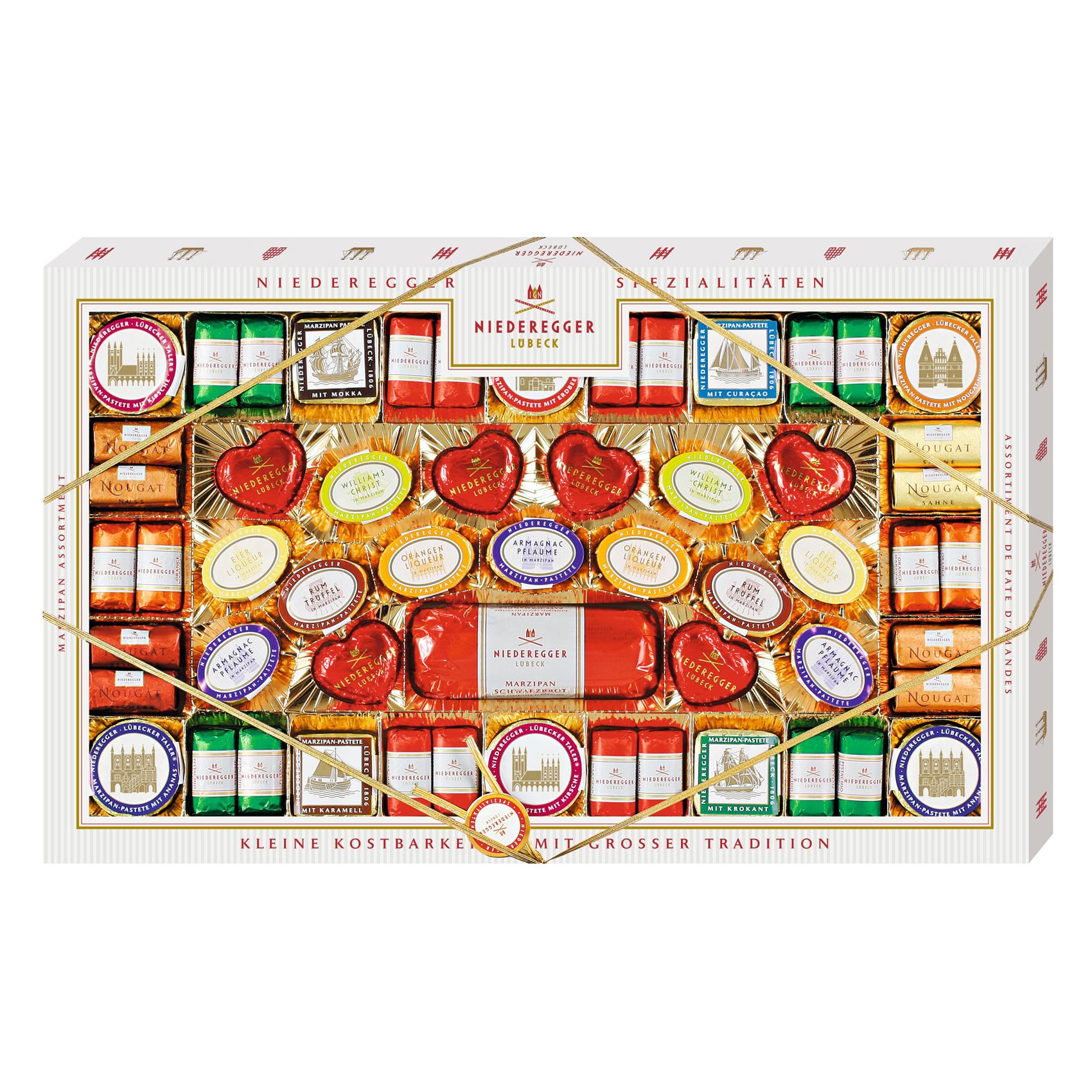 niederegger marzipan sortiment travem nde 1000g online kaufen im world of sweets shop. Black Bedroom Furniture Sets. Home Design Ideas