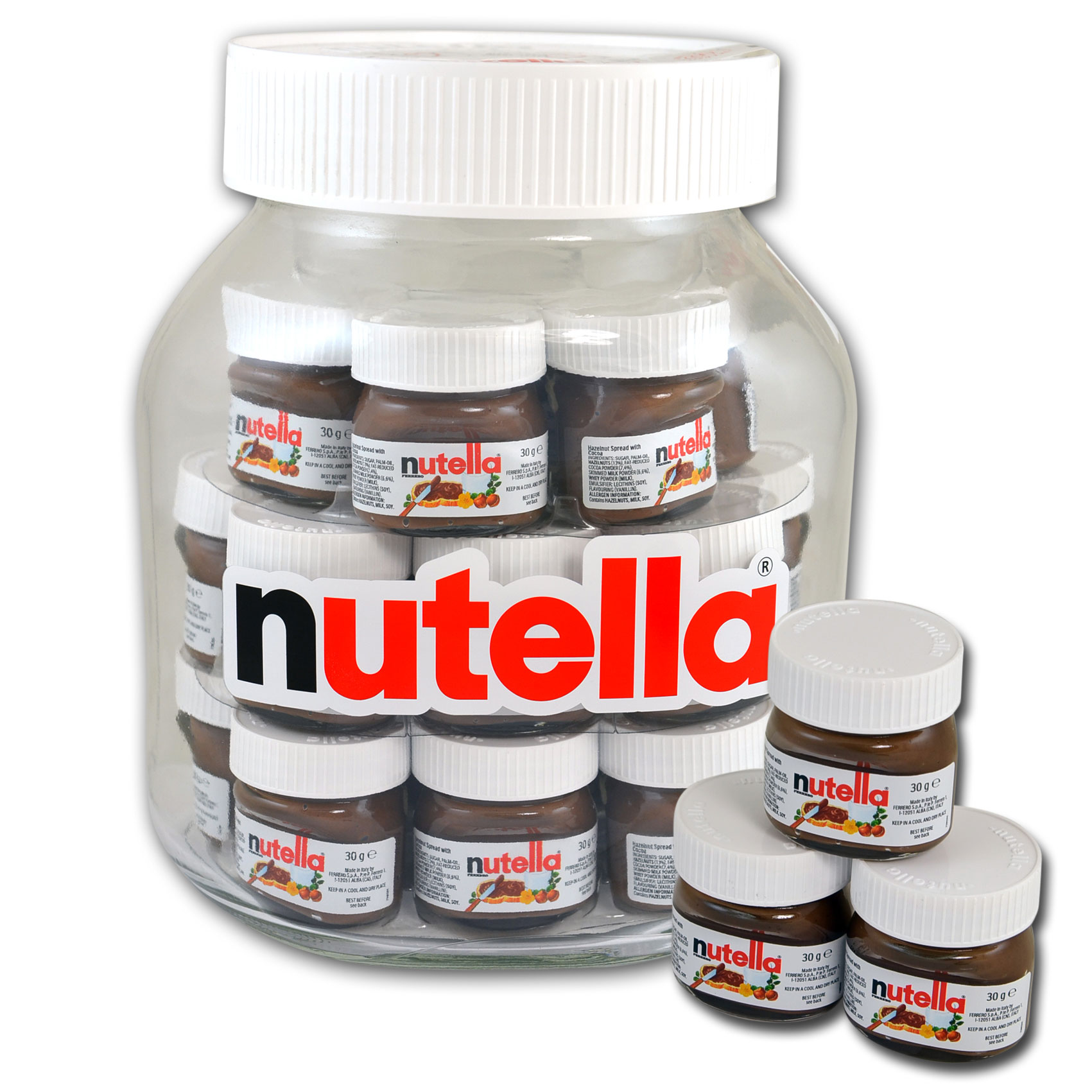 nutella world big jar xxl 21x30g online kaufen im world of sweets shop