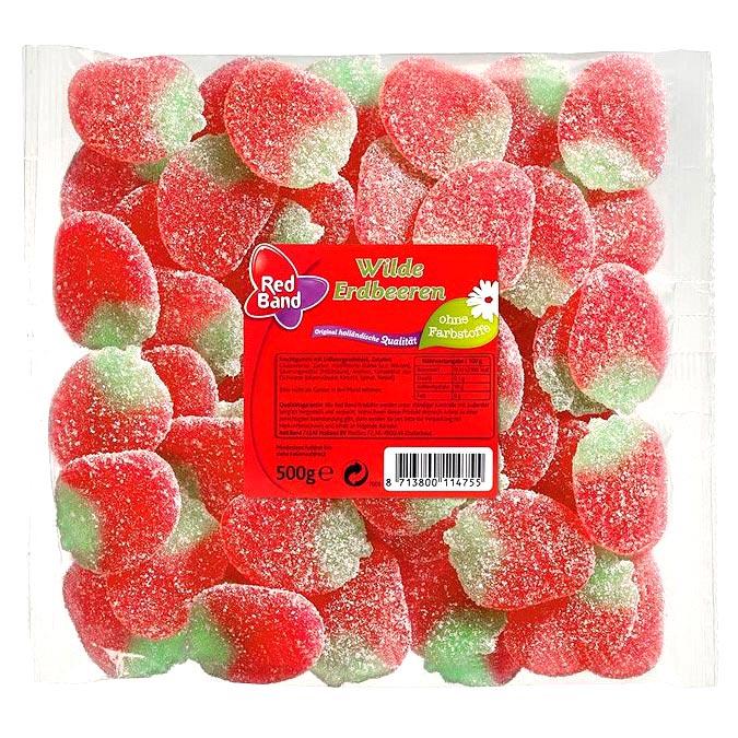 red band wilde erdbeeren 500g online kaufen im world of sweets shop. Black Bedroom Furniture Sets. Home Design Ideas